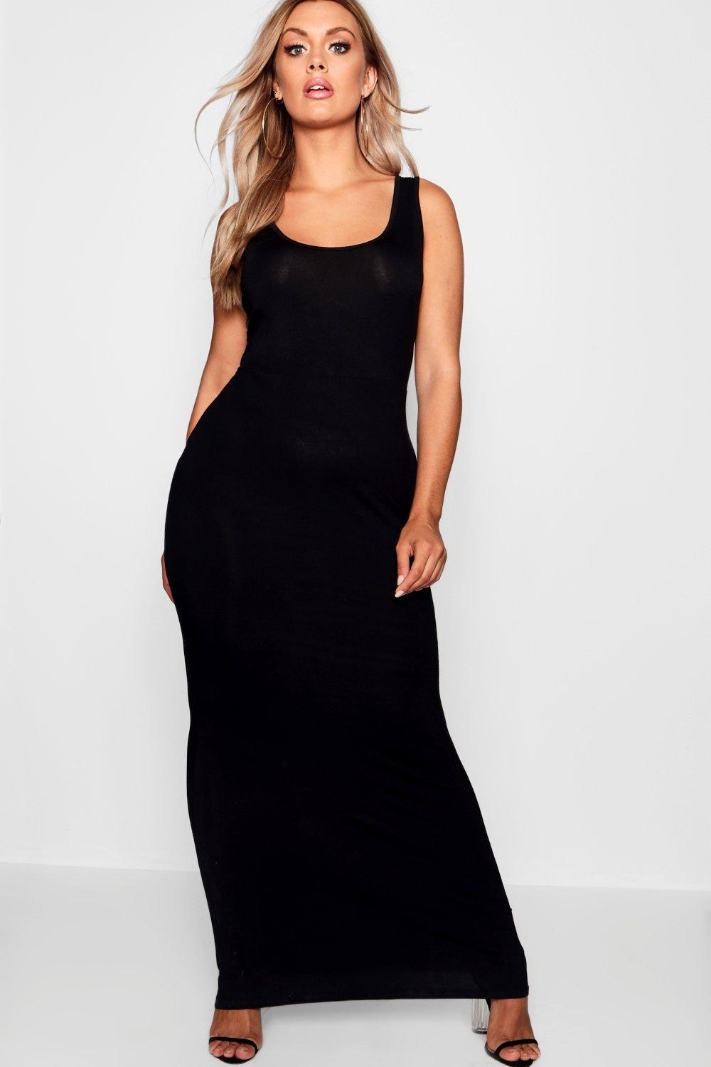 Plus Scoop Neck Maxi Dress 6