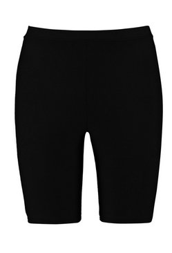 Black Petite High Waist Cycling Shorts