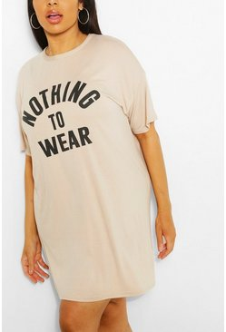 Stone Plus Nothing To Wear T Shirt Dress