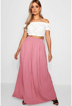 Rose Plus Floor Sweeping Jersey Maxi Skirt