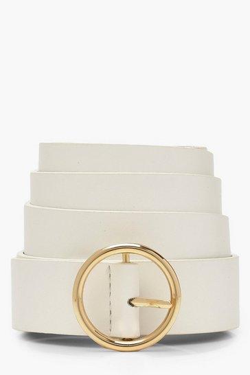 White Plus Circle Ring Boyfriend Belt