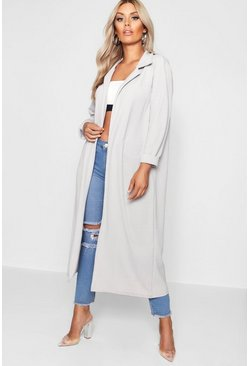 Grey Plus  Crepe Longline Duster