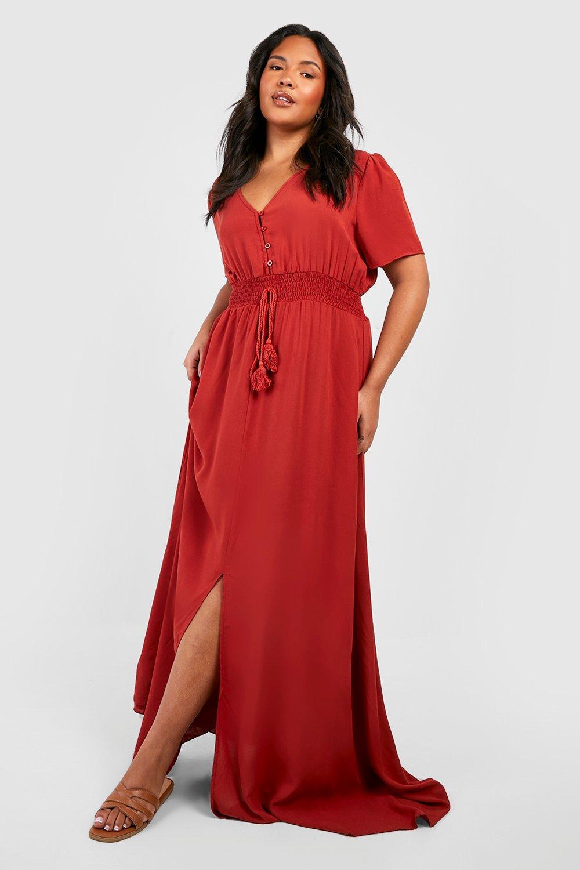 Plus Cold Shoulder Jersey Maxi Dress 7