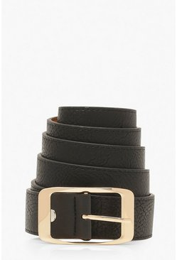 Black Plus Imogen Chunky Boyfriend Belt