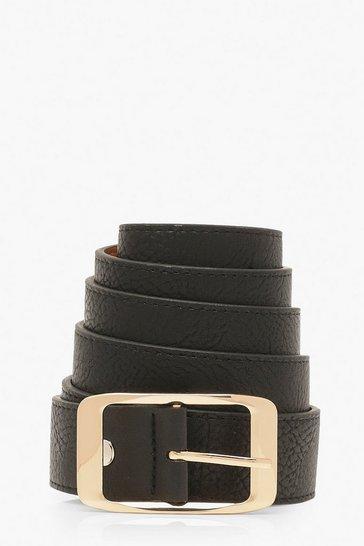 Black Plus Imogen Chunky Boyfriend Belt