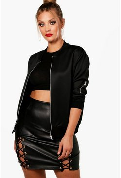 Black Plus Scuba Bomber Jacket