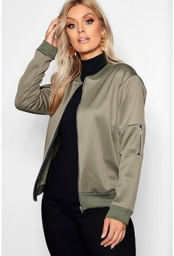 Khaki Plus Scuba Bomber Jacket