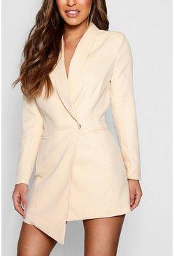 Nude Petite Asymmetric Blazer Dress