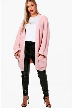 Gilet oversize épais Plus, Blush rose