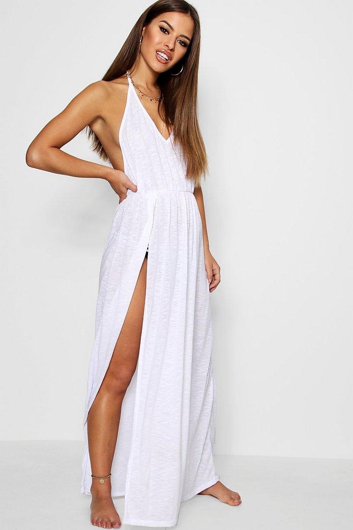 Petite Alison Maxi Beach Cover Up Dress Boohoo Uk
