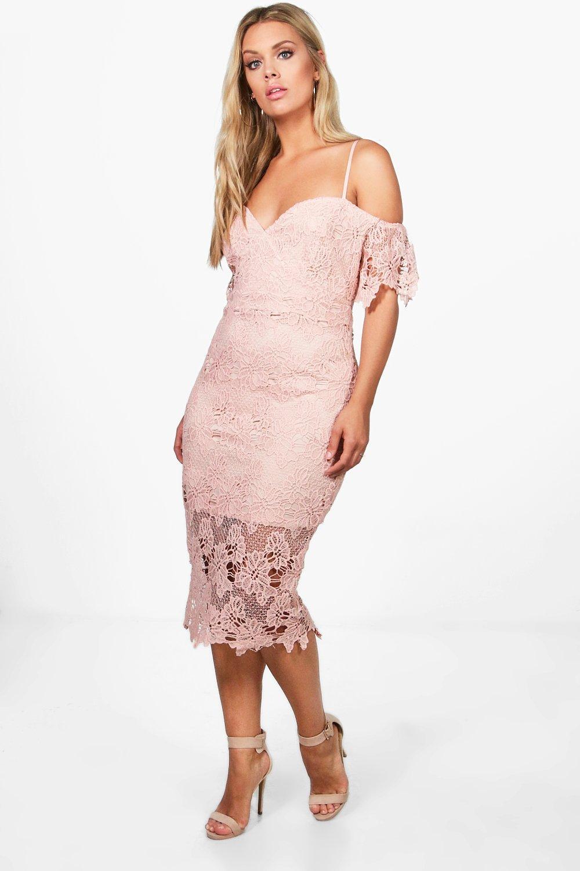 Plus Corded Lace Midi Dress 2