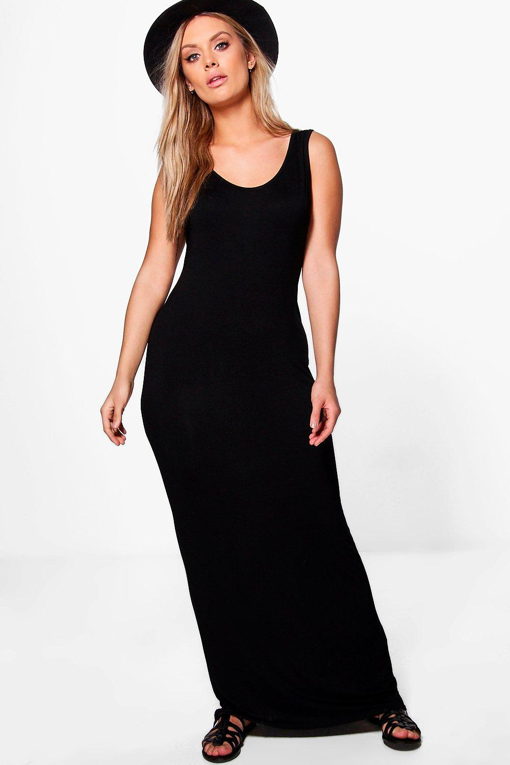 Plus Scoop Neck Maxi Dress 4