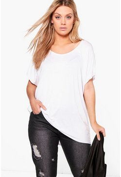 Wit white Plus Oversized T-Shirt