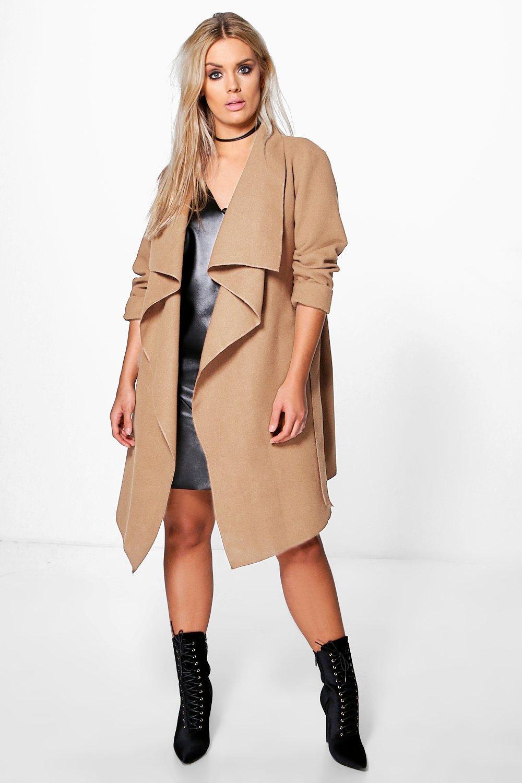 Coats & Jackets Plus  Wool Look Wrap Front Coat