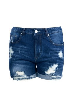 Blue Plus  Turn Up Denim Short