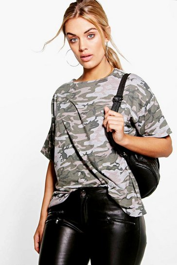Multi Plus Camo Oversize T-Shirt