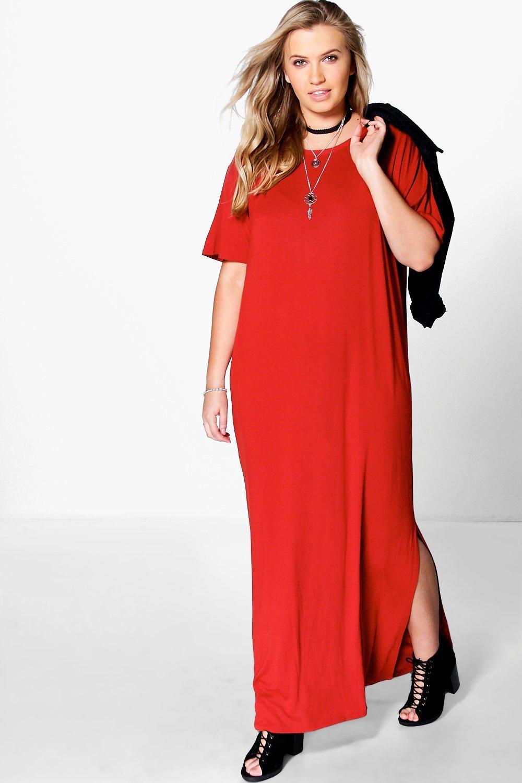 Plus Elisa T-Shirt Maxi Dress | boohoo