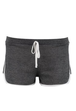 Charcoal Petite  Space Dye Knitted Gym Running Shorts
