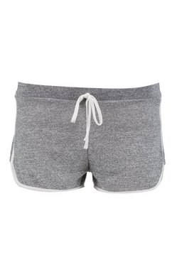 Grey marl Petite  Space Dye Knitted Gym Running Shorts