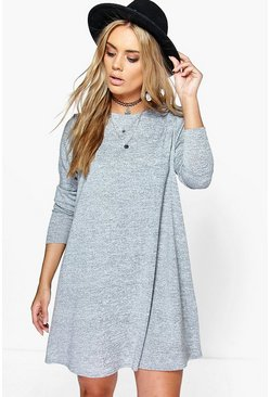 Grey marl grey Plus  Swing Dress