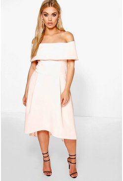 Nude Plus  Double Layer Midi Dress