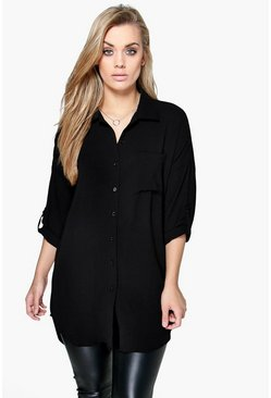 Black Plus  Oversized Shirt