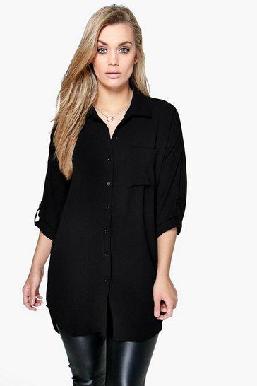 Black Plus  Oversized Shirt