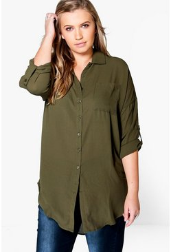 Khaki Plus  Oversized Shirt