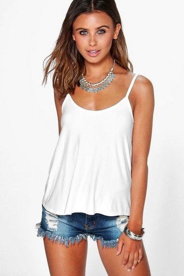 White Petite  Swing Cami Top