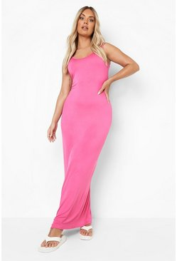Pink Plus  Scoop Neck Maxi Dress