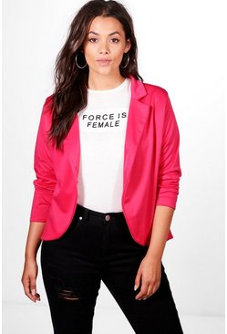 Cerise Plus  One Button Ponte Blazer
