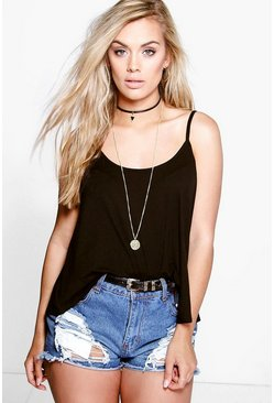 Black Plus Swing Cami Vest