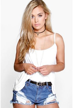 White Plus Swing Cami Vest
