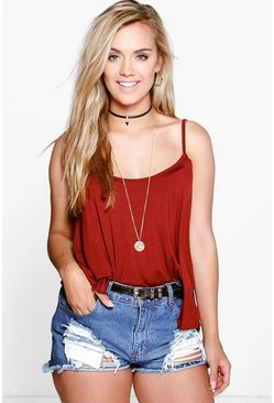 Wine red Plus Swing Cami Tank Top