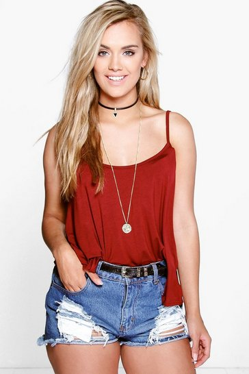 Wine red Red Plus Swing Cami Vest