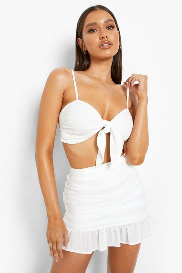 White Bride Strappy Bandeau And Skirt Resort Co-ord