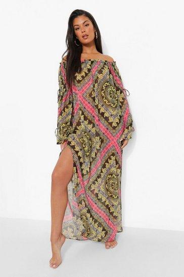 Black Zebra Beach Dress