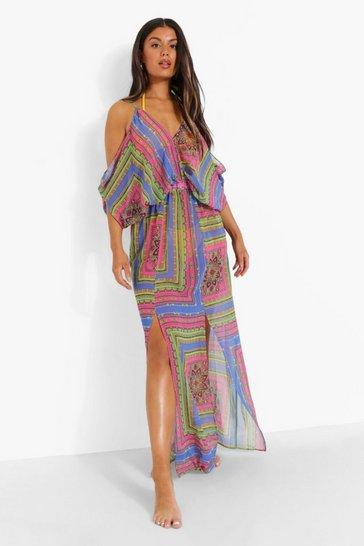 Blue Bandana Paisley Beach Dress