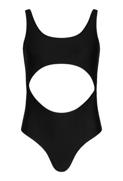 Black Cut Out Middle Swimsuit