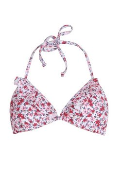 White Mix & Match Neon Ditsy Floral Triangle Bikini Top
