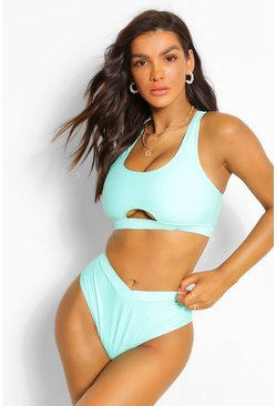 Mint green Mix & Match Fuller Bust Keyhole Bikini Crop