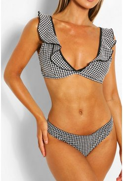 Black Gingham Bikini Briefs