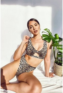 Brown Leopard Underwired Bikini