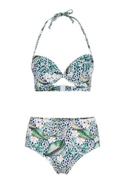White Mix & Match Tropical Animal Push Up Top