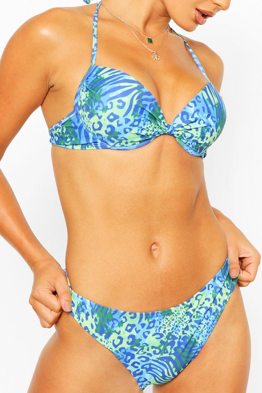 Swimwear Mix & Match Leopard Push Up Top