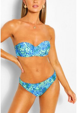 Blue Mix & Match Leopard Fix Bikini Brief