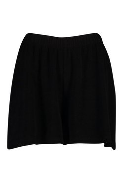 Black Towelling Beach Shorts