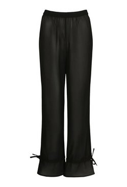 Black Tie Ankle Beach Trousers