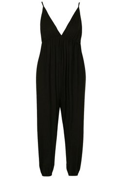 Black Jersey Beach Jumpsuit