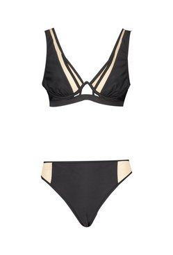 Black Mesh Panel Mono Wire Bikini